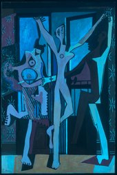 The Three Dancers 1925 in ultraviolet light (UV)