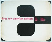 Cover of Three New American Painters: Louis, Noland, Olitski, exhibition catalogue, Norman Mackenzie Art Gallery, Regina 1963