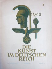 Cover to the February 1943 issue of Die Kunst im Deutschen Reich
