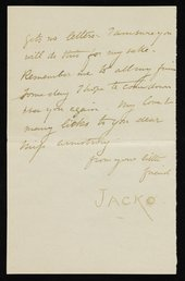 Letter by Stanhope Forbes, in the persona of his dog Jacko, Penmaenmawr, Wales, to Elizabeth Forbes, 15 August 1887, Tate