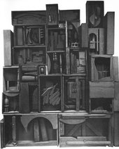 Louise Nevelson, Black Wall 1959 in Sculpture and Drawings, exhibition catalogue, Hanover Gallery, London, June–September 1961