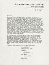 Letter from Larry Sultan and Mike Mandel to ESL Incorporated, 14 May 1976