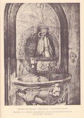 Andrea del Verrocchio, Lavabo, Old Sacristy, S. Lorenzo, Florence, reproduced as plate V in Adrian Stokes's The Quattro Cento