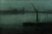 James McNeill Whistler, Nocturne: Blue and Silver, Battersea Reach 1870–5