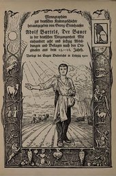 Hans Thoma The Sower, title page to Adolf Bartels, The Peasant in German History 1900