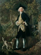 Thomas Gainsborough, A Gentleman with a Dog in a Wood c.1747