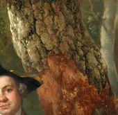 Thomas Gainsborough, Muilman, Crokatt and Keable in a Landscape, detail of the central oak tree