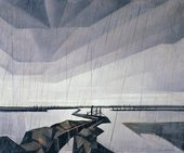 Christopher R.W. Nevinson, A Flooded Trench on the Yser 1916