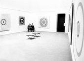 Lord Snowdon, John Kasmin and Lord Dufferin in the Kasmin Gallery, London