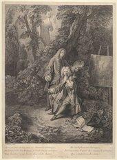 Nicolas-Henri Tardieu ?after Antoine Watteau, Assis, au près de toi… 1731