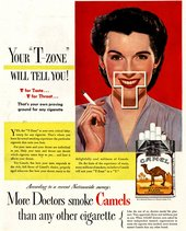 "'Your ""T-Zone"" Will Tell You!' Advertisement for Camel cigarettes"