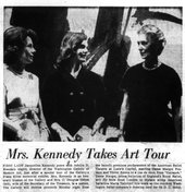 'Mrs. Kennedy Takes Art Tour', Washington Post, 9 Dec 1962, p.F2