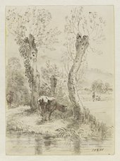 John Constable Cows Grazing, Salisbury 1829