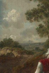 Thomas Gainsborough, Muilman, Crokatt and Keable in a Landscape, detail of the left side of the composition