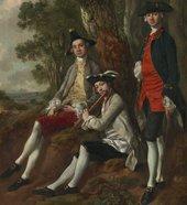Thomas Gainsborough, Muilman, Crokatt and Keable in a Landscape, detail of the sitters