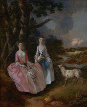 Thomas Gainsborough, Mrs Mary Cobbold with her Daughter Anne in a Landscape with a Lamb and a Ewe c.1752
