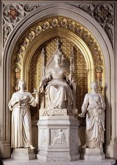 John Gibson Queen Victoria with Justice and Clemency 1855–7,