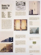 Dan Graham Page from Homes for America 1966–7
