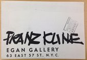 Brochure for Franz Kline's first solo exhibition, Charles Egan Gallery, New York, 1950