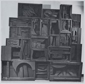 Louise Nevelson, Black Wall 1959 in Cent Sculpteurs de Daumier a nos Jours: Catalogue par Maurice Allemand 1960, exhibition catalogue, Musée d'Art et Industrie, Saint-Etienne