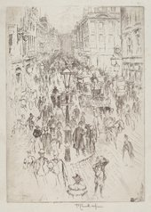 Joseph Pennell, New Oxford Street, London 1893