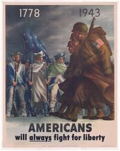 Bernard Perlin, Americans Will Always Fight for Liberty 1943