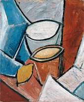 Pablo Picasso Pots and Lemon (Pots et citron) 1907