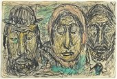 Abraham Walkowitz, Three Ghetto Faces 1904, published in Walkowitz's 1946 book Faces from the Ghetto