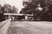 William and Mary Johnstone outside Frank Lloyd Wright's house, Taliesin, 1948