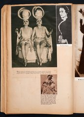 Photographs of the Dolly Sisters in Edward Burra's scrapbook c.1929–36