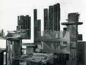 Louise Nevelson, Moon Garden Plus One, exhibition at the Grand Central Moderns gallery, New York, January 1958