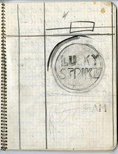 Notebook page, preliminary sketch for Lucky Strike
