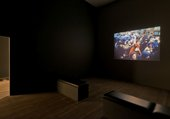 Allan Sekula, Waiting for Tear Gas 1999–2000, installation view Tate Modern 2013