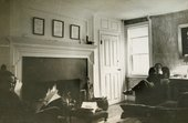 Glenway Wescott and Monroe Wheeler at Stone-Blossom, their country home, c.1947