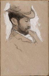 William Rothenstein Portrait of a Man c.1890