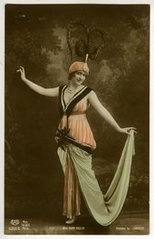 Photograph of the singer Gaby Deslys in Edward's Burra's scrapbook date