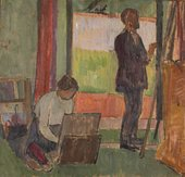 Vanessa Bell Frederick and Jessie Etchells Painting 1912