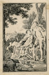 Hubert-François Gravelot, Etched state of an illustration for an unidentified publication, c.1740s