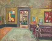 Vanessa Bell (also attributed to Roger Fry) A Room in the Second Post-Impressionist Exhibition (The Matisse Room) 1912