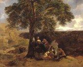 Thomas Gainsborough, Landscape with Gipsies c.1753–4