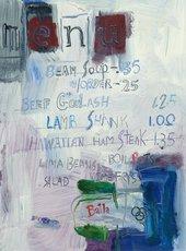 Larry Rivers, Cedar Bar Menu I 1959