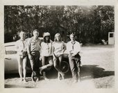 Frank O'Hara, Larry and Clarice Rivers, Niki de Saint Phalle, Jean Tinguely - Undated photograph