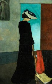 William Rothenstein Interior: Lady with a Hat 1891