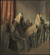 William Rothenstein Jews Mourning in a Synagogue 1906