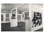 Aaron Siskind Installation view of the Ninth Street exhibition, New York, 1951, showing Franz Kline's painting Ninth Street 1951 on the right-hand wall