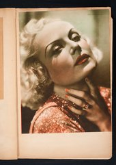 Photograph of the actress Carole Lombard in Edward Burra's scrapbook c.1929–36