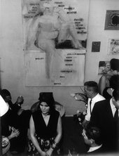 Yves and Rotraut Klein's wedding cocktail party in Larry Rivers's studio, Paris, 21 January 1962, Photograph