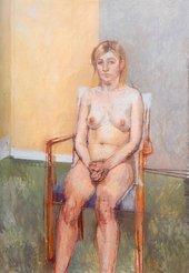 William Coldstream Seated Nude 1972–3
