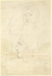 John Gibson, Studies for a Portrait of John Phillip Kemble 1814