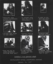 Lynn Hershman Leeson Roberta's Body Language Chart 1978, printed 2009